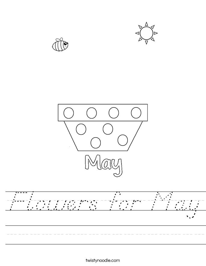 Flowers for May Worksheet