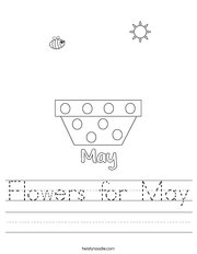 Flowers for May Handwriting Sheet