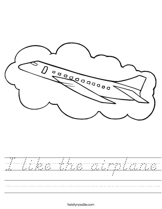 I like the airplane Worksheet