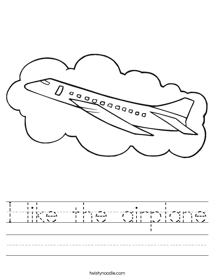 I like the airplane Worksheet