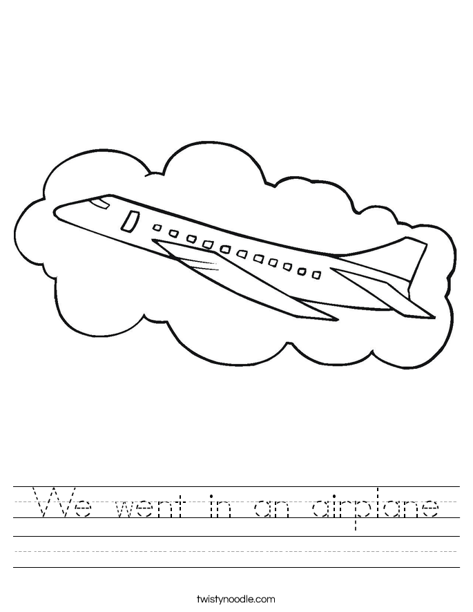 We went in an airplane Worksheet