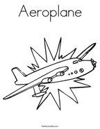 Aeroplane Coloring Page