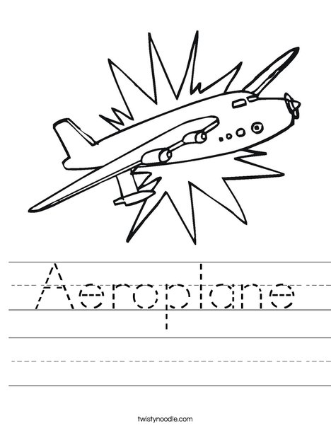 aeroplane worksheet twisty noodle. Black Bedroom Furniture Sets. Home Design Ideas