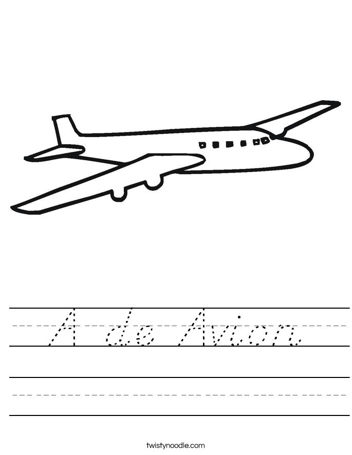 A de Avion Worksheet