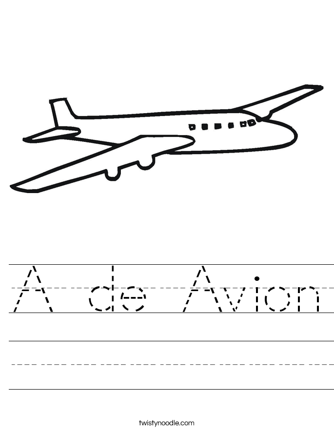 A de Avion Worksheet