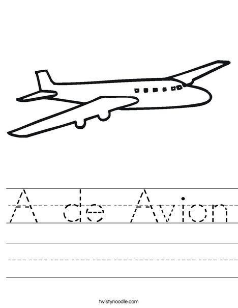 Jet Plane Worksheet