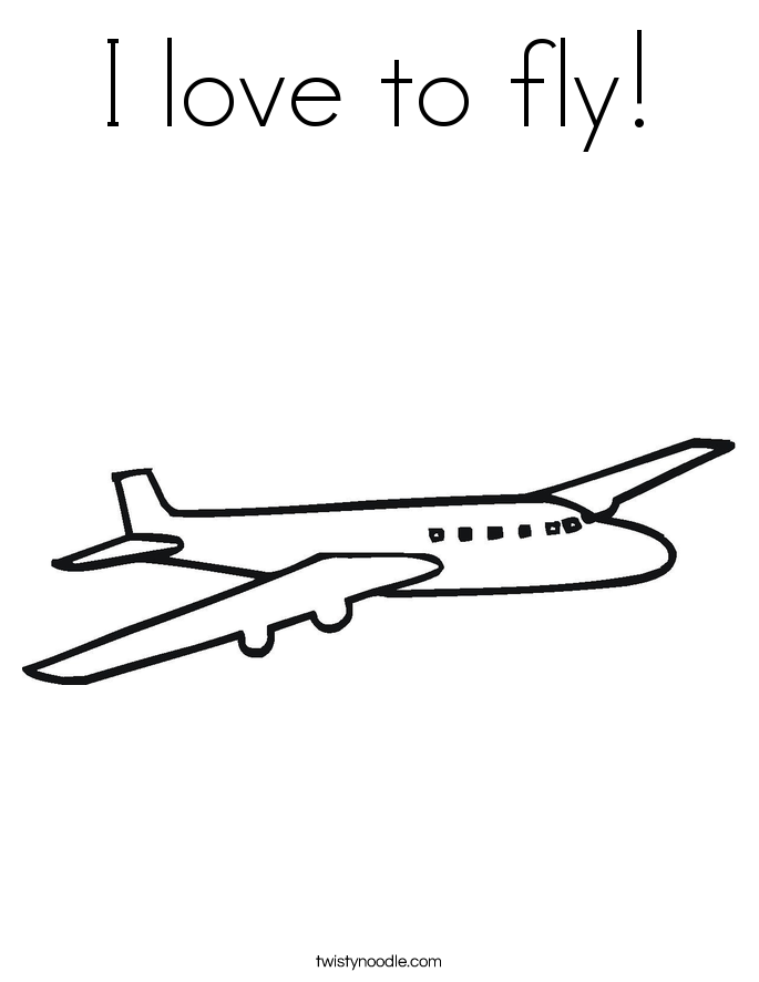 I love to fly! Coloring Page