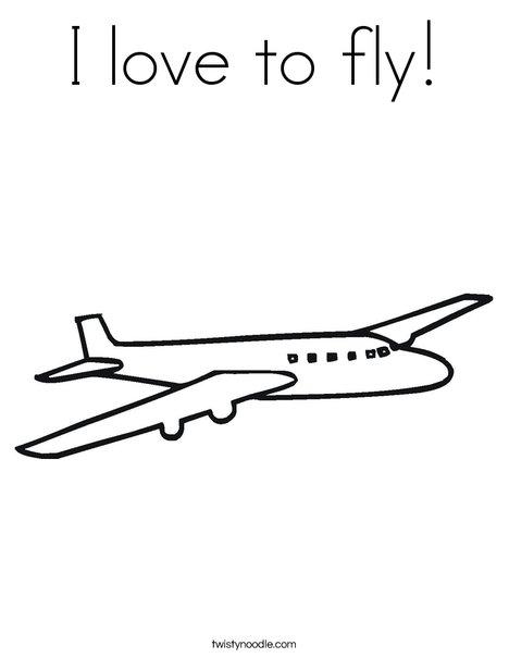 Jet Plane Coloring Page