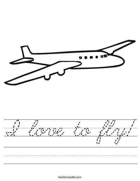 Jet Plane Worksheet