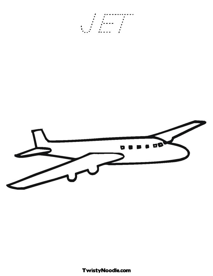 plane outline Colouring Pages (page 2)