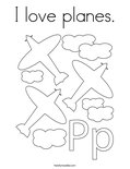 I love planes.Coloring Page