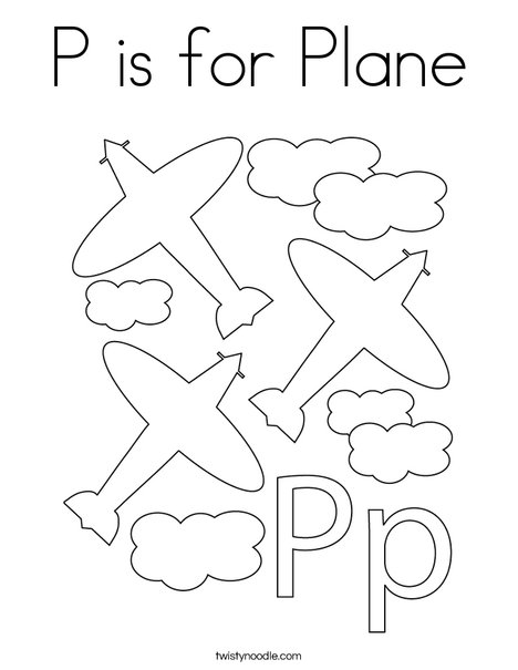 Airplane with Propeller Coloring Page