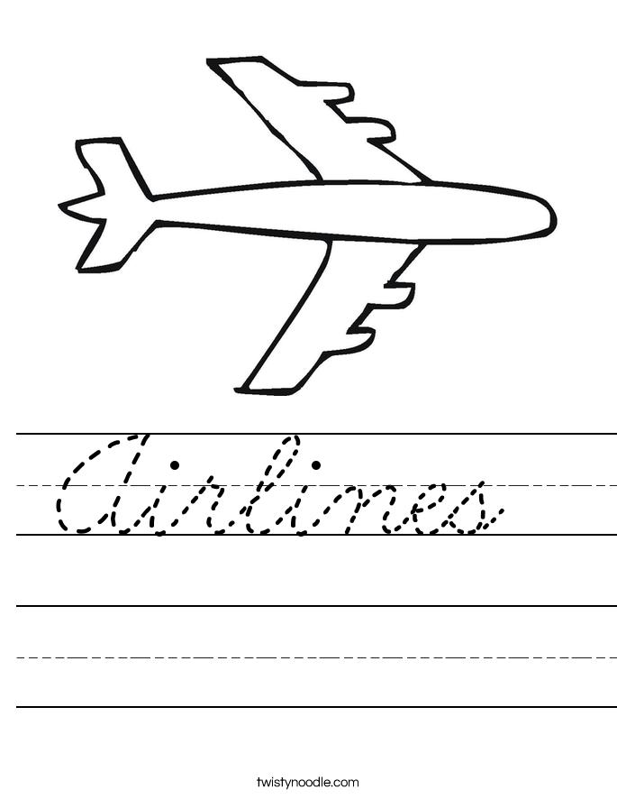 Airlines  Worksheet