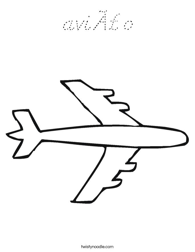 avião Coloring Page