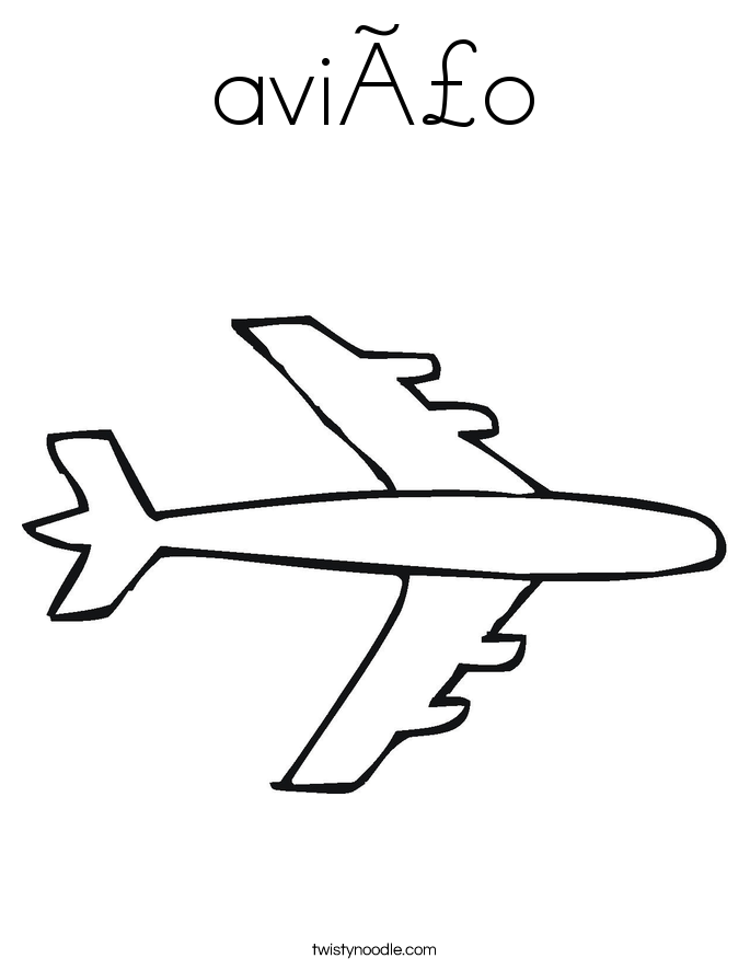 avião Coloring Page