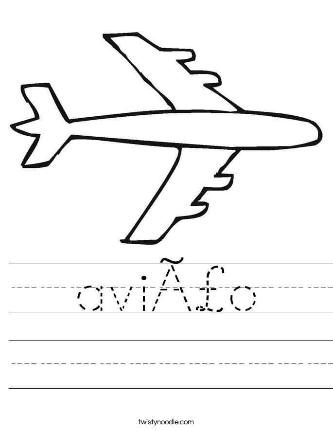 avião Worksheet