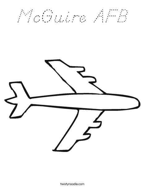 Plane Coloring Page
