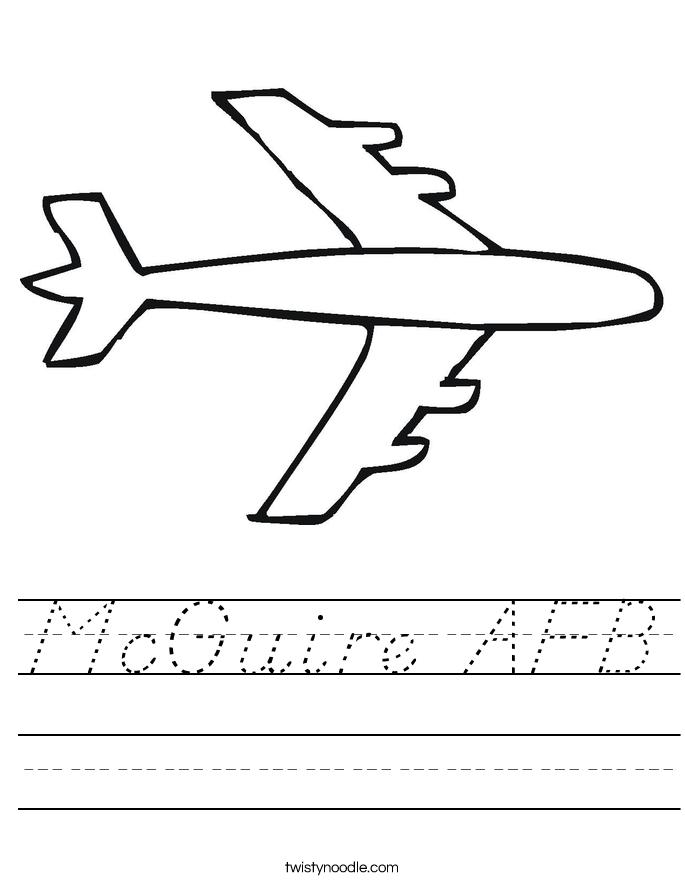 McGuire AFB Worksheet