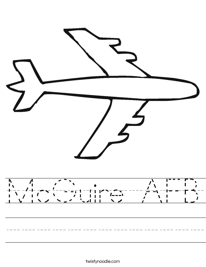 McGuire AFB Worksheet