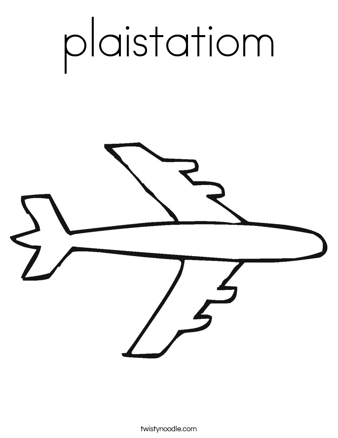 plaistatiom Coloring Page