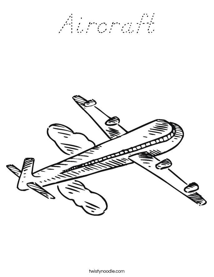 Aircraft Coloring Page