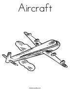 Aircraft Coloring Page