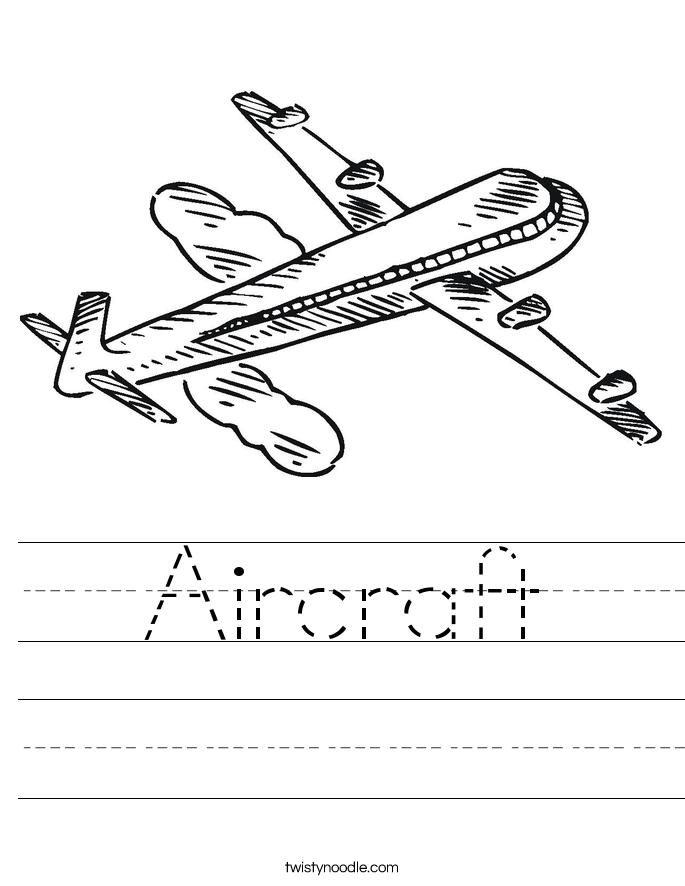 Aircraft Worksheet