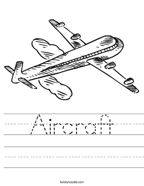 Jet Airplane Worksheet