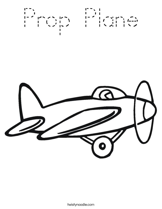 Prop Plane Coloring Page