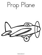 Prop Plane Coloring Page