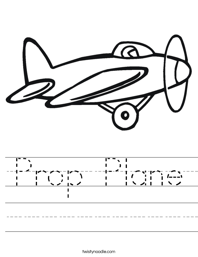 Prop Plane Worksheet