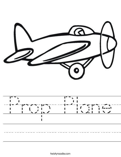 Prop Airplane Worksheet