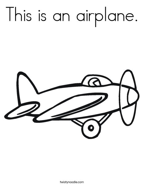 Prop Airplane Coloring Page