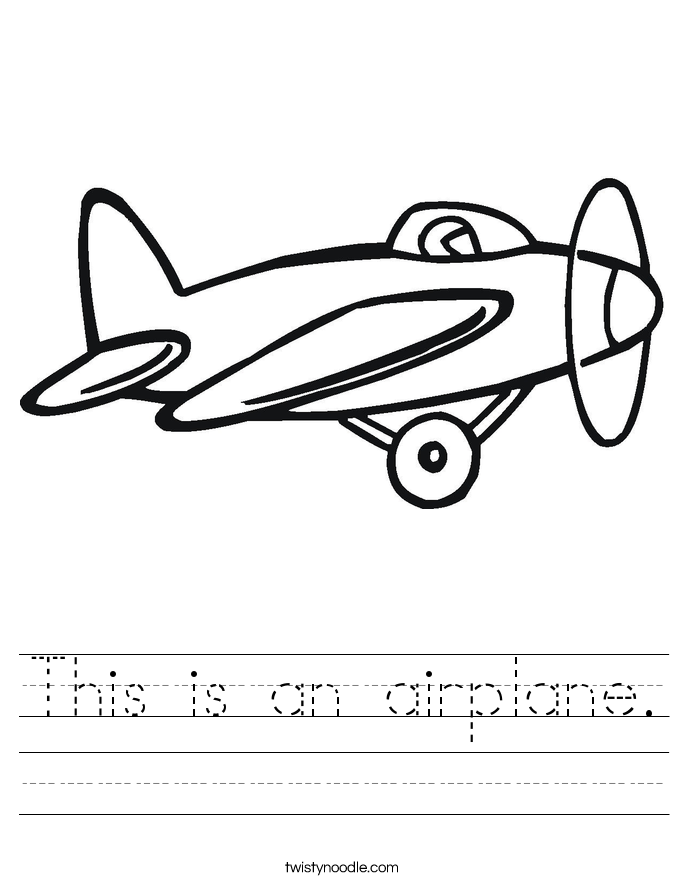 This is an airplane. Worksheet