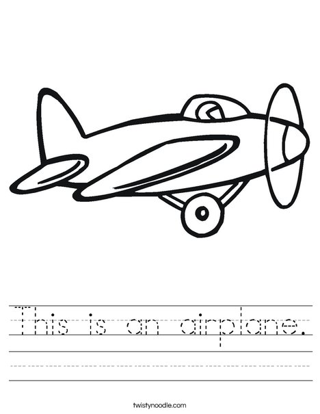Prop Airplane Worksheet