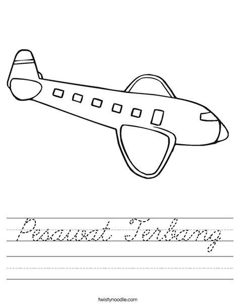 Airplane with Windows Worksheet