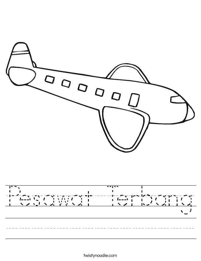 Pesawat Terbang Worksheet