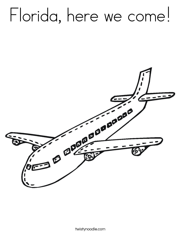 Florida, here we come! Coloring Page