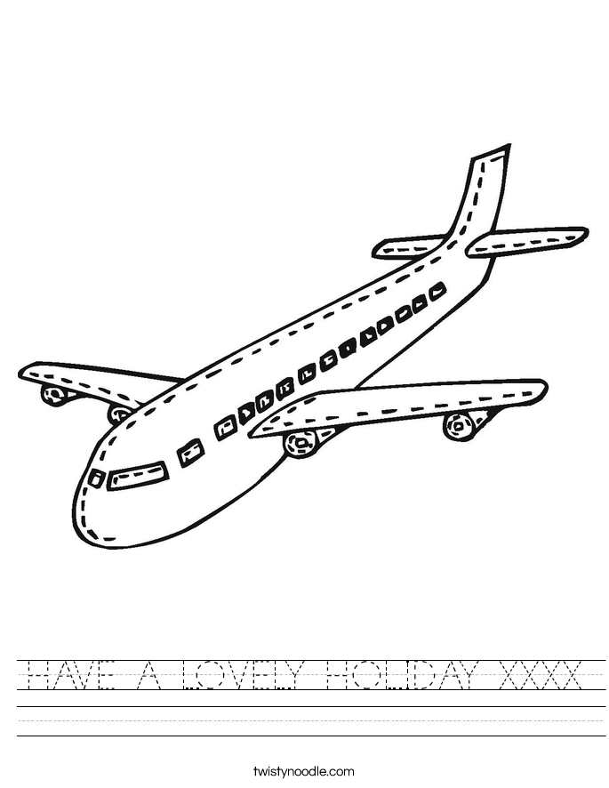 HAVE A LOVELY HOLIDAY XXXX Worksheet