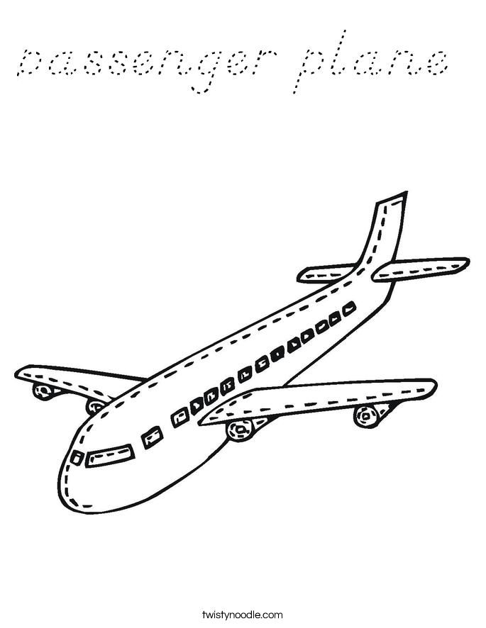 passenger plane Coloring Page