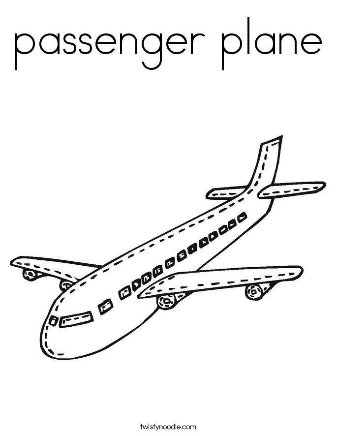 passenger plane Coloring Page
