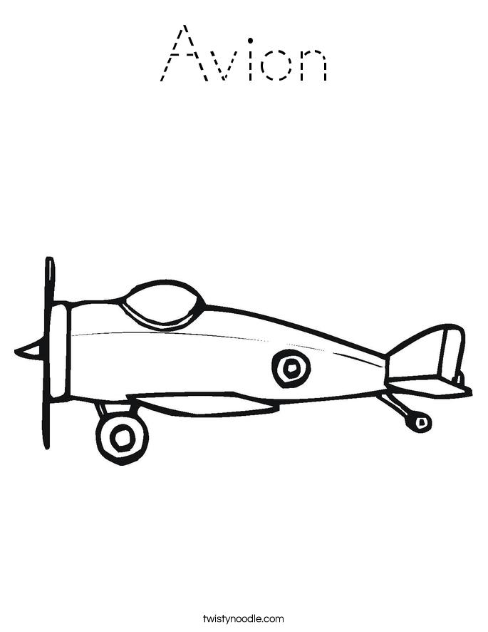 Avion Coloring Page
