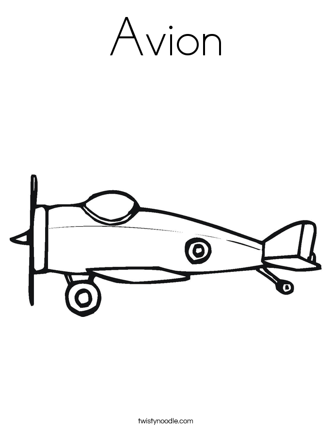 Avion Coloring Page