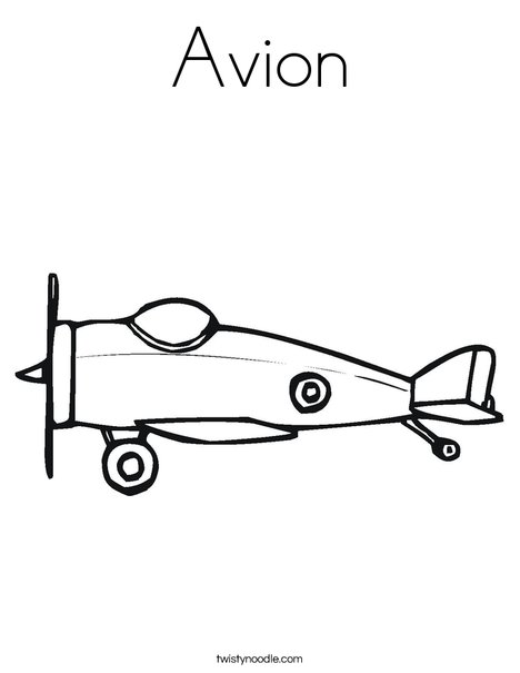 Small Airplane Coloring Page