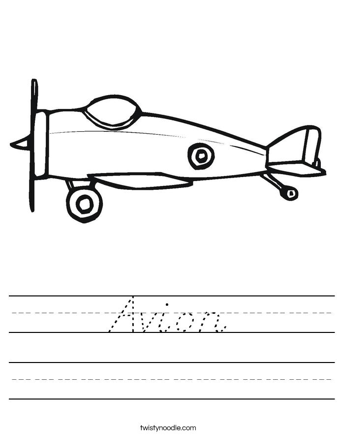 Avion Worksheet
