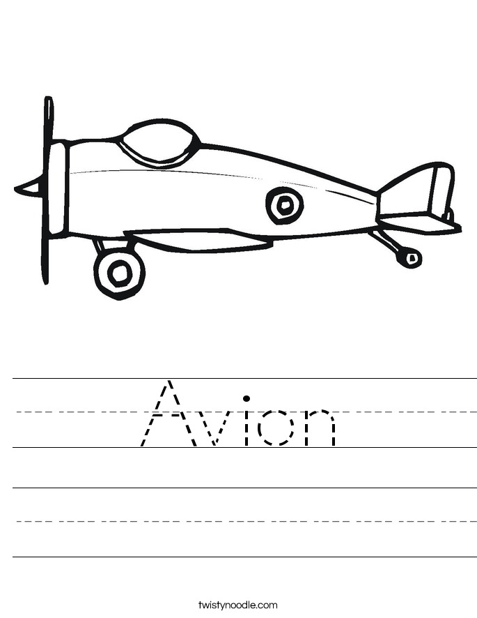 Avion Worksheet