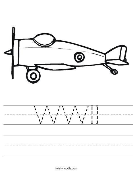 Small Airplane Worksheet