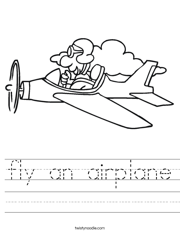 fly an airplane Worksheet