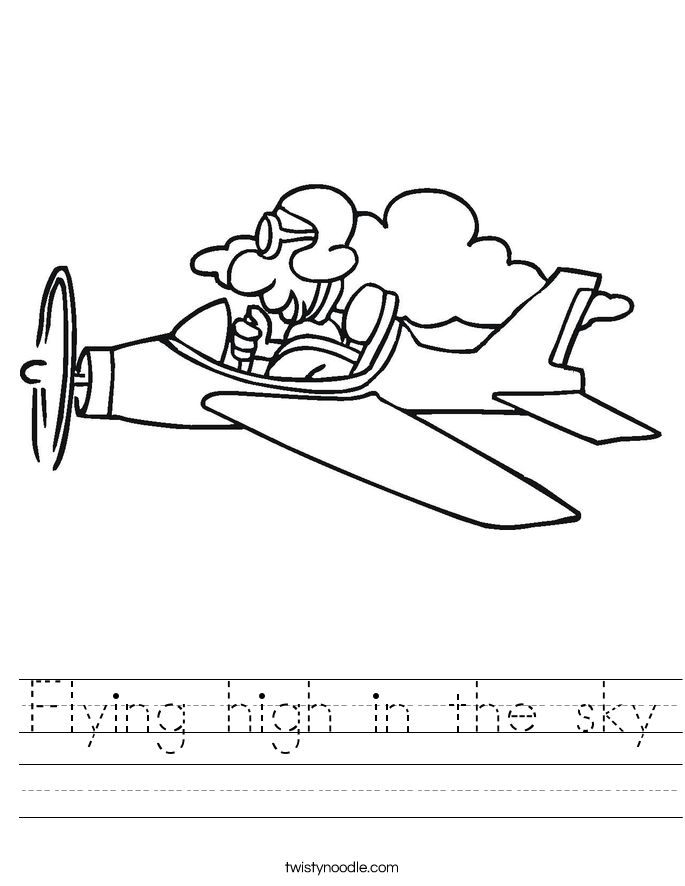 Flying high in the sky Worksheet