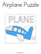 Airplane Puzzle Coloring Page